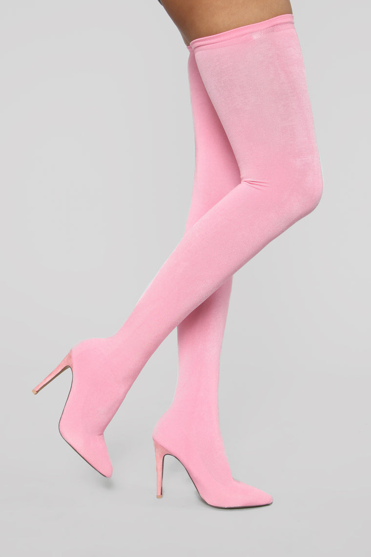Outrageous Heeled Boots   Pink by Fashion Nova
