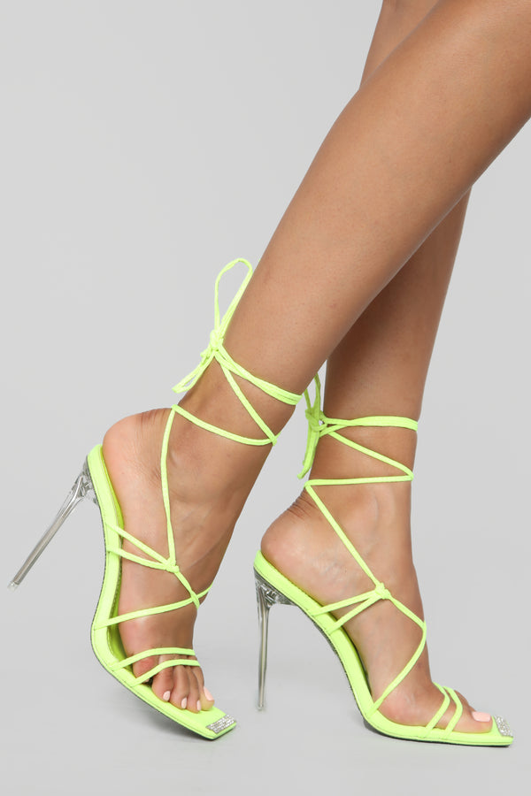 8fe5b2e44c The Almighty Heeled Sandal - Neon Yellow
