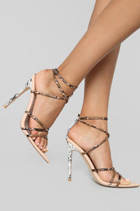 In The Mix Heeled Sandal - Nude