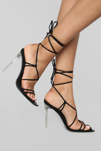The Almighty Heeled Sandal - Black