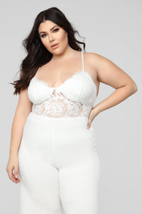 Roof Top Date Lace Jumpsuit - White Angle 6