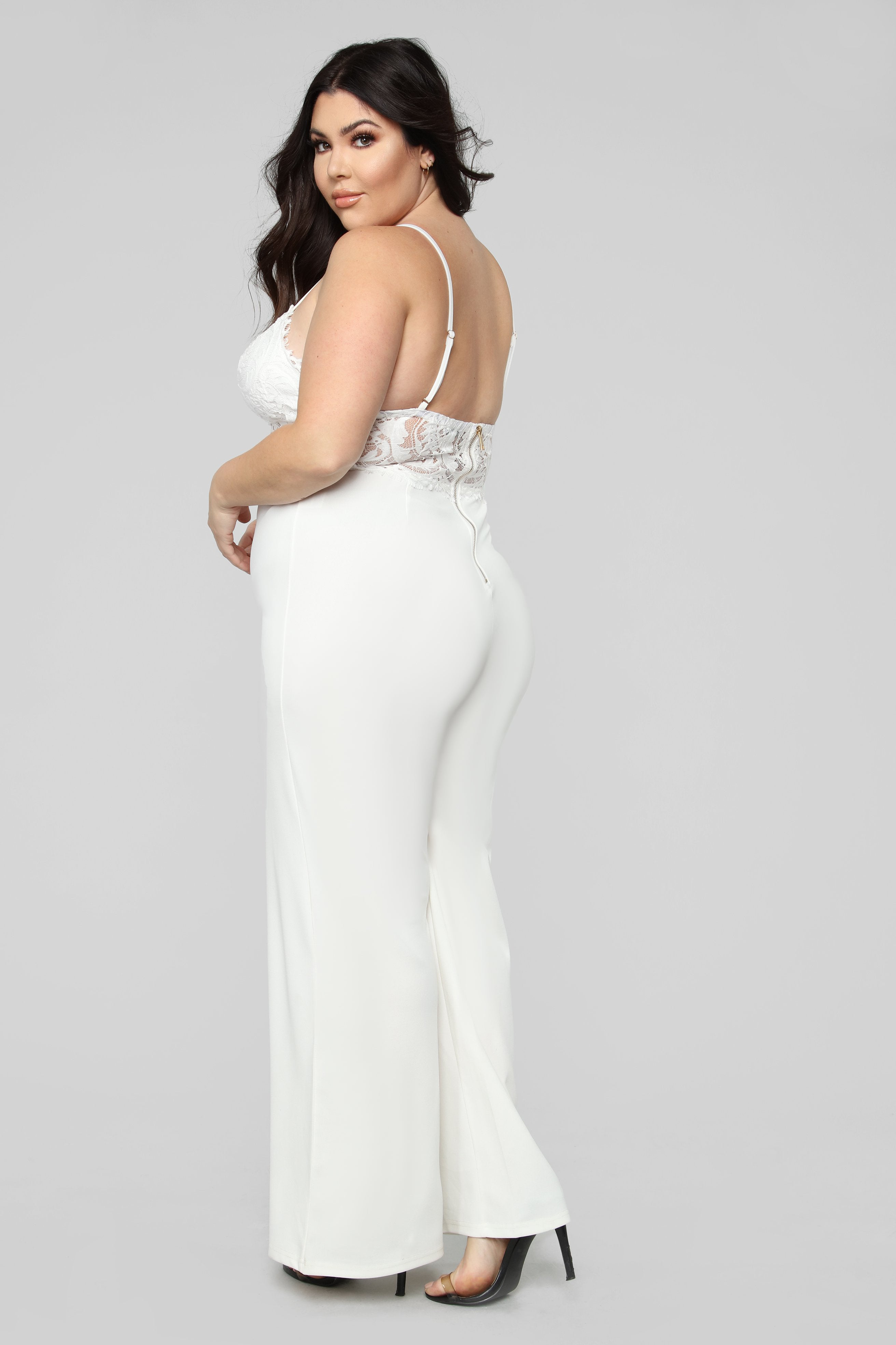 ec578991bf10 Roof Top Date Lace Jumpsuit - White
