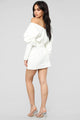 Got It In The Bag Mini Dress - White