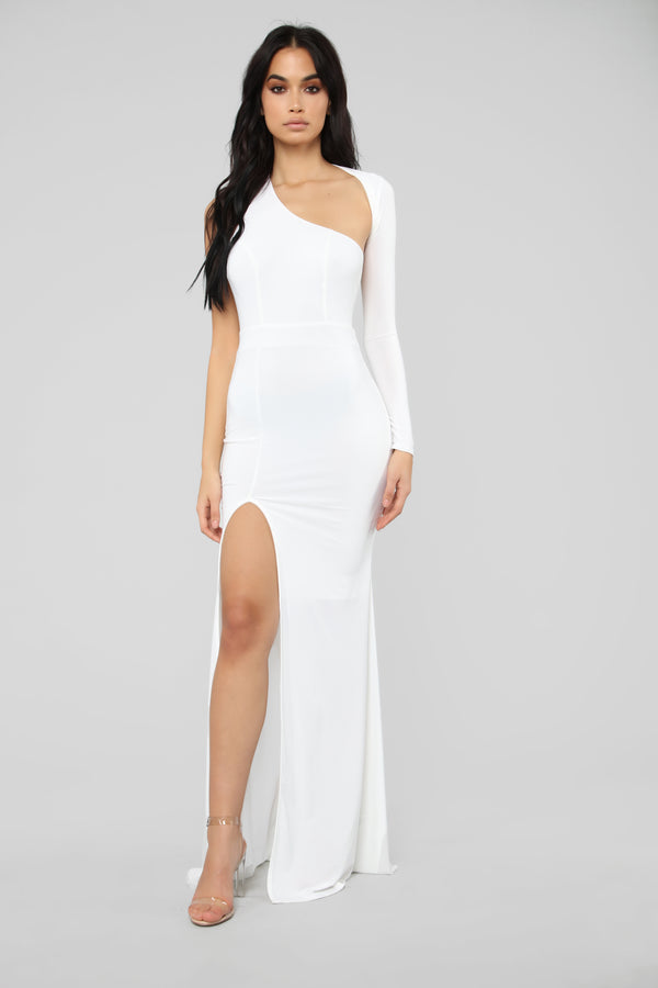 c57b1d8a042d7 Feels Like Lust One Shoulder Dress - White