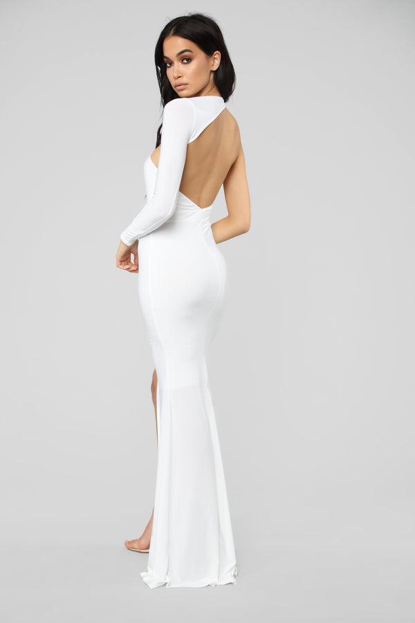 Feels Like Lust One Shoulder Dress - White df0a25009ce8