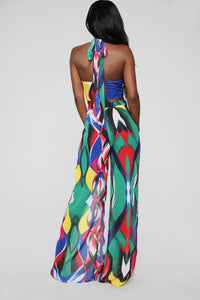 Boogie Wonderland Jumpsuit - Multi Color