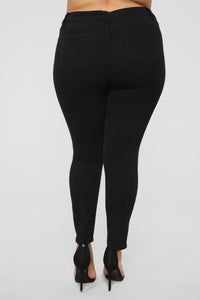 Fiona High Rise Skinny Jeans - Black