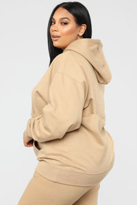 Stole Your Boyfriend's Oversized Hoodie - Nude