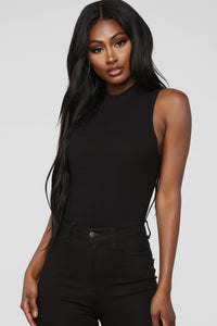 Covey High Neck Bodysuit - Black Angle 2