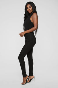 Covey High Neck Bodysuit - Black Angle 4