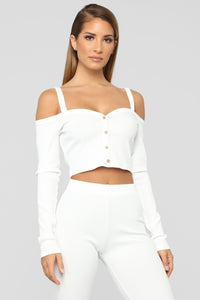 Be Better Ribbed Pant Set - White