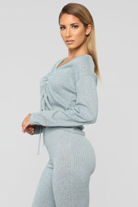 Rooshie Sweater Pant Set - Light Blue