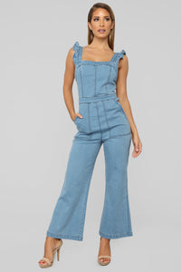 Daisy Denim Jumpsuit - Denim