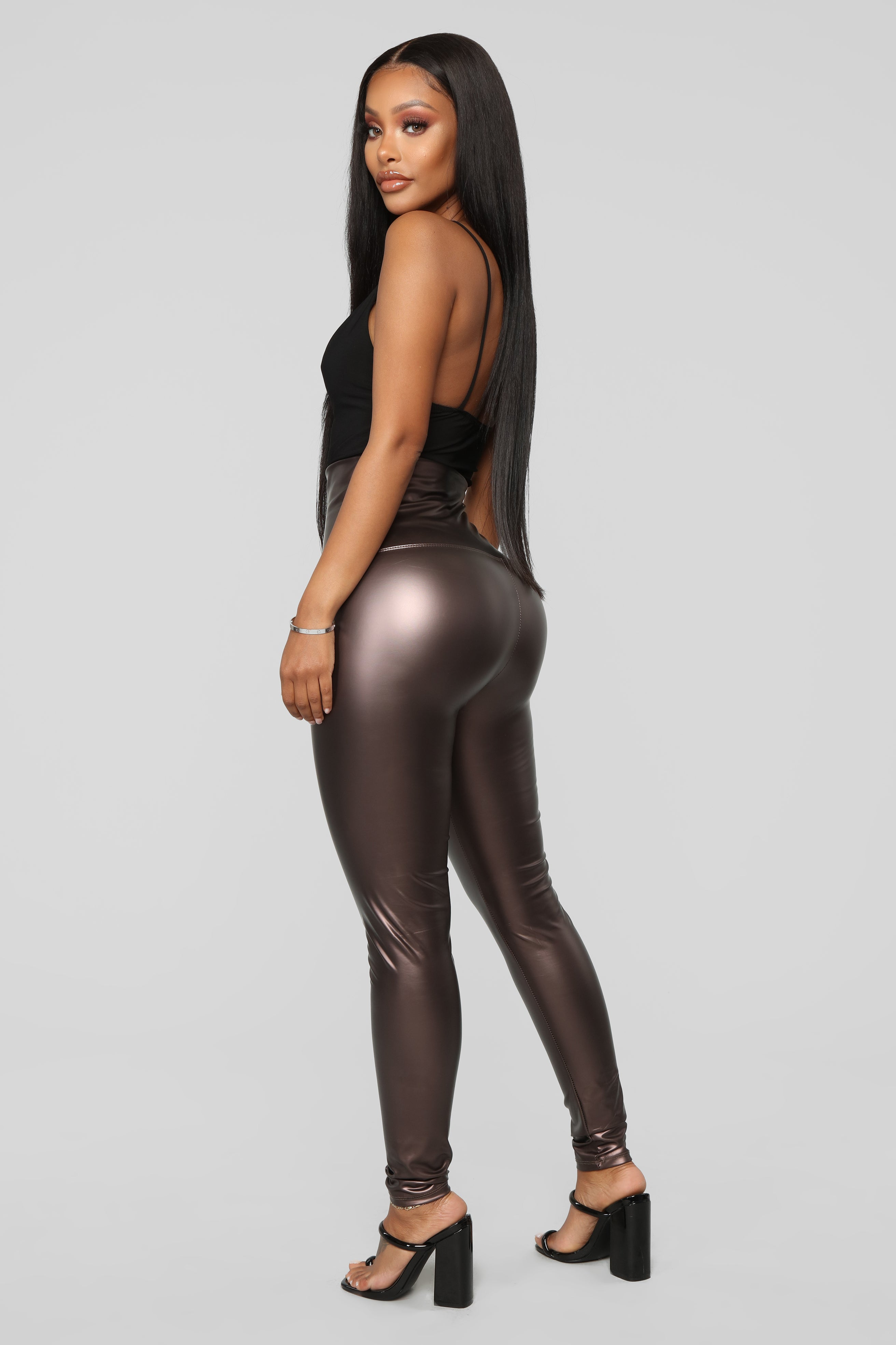 8fd76cd9bfd In Da Club Faux Leather Leggings - Copper