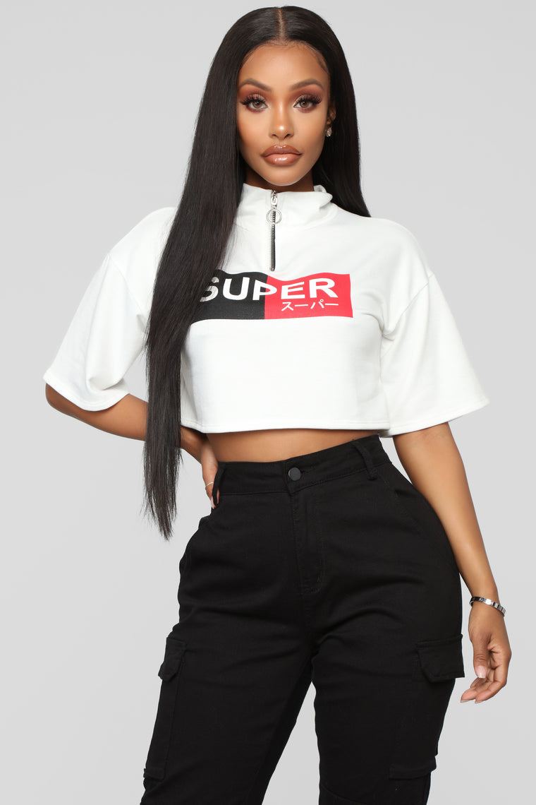 Super Down For You Crop Top   White by Fashion Nova