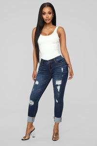 While We're Young Low Rise Jeans - Dark Denim
