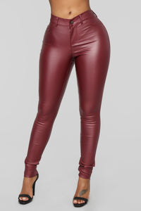 Dahlia Dreams Pants - Burgundy