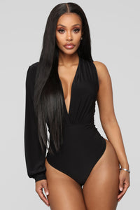 Can't Fool Me Bodysuit - Black