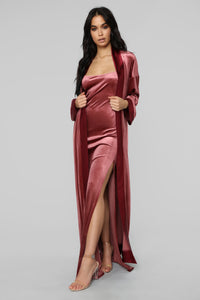 Rich Taste Velvet Dress Set - Marsala