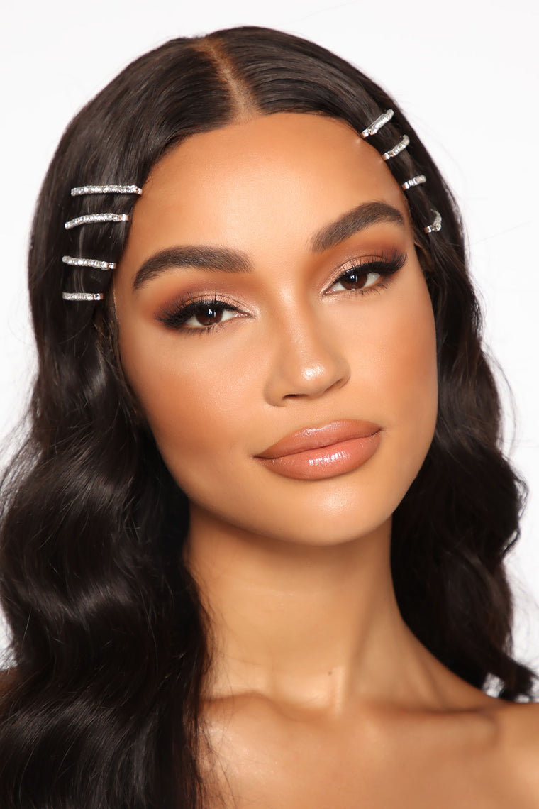 Shayna Hair Pin Set - Silver