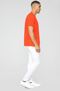 Meshing Well Short Sleeve Top - Coral