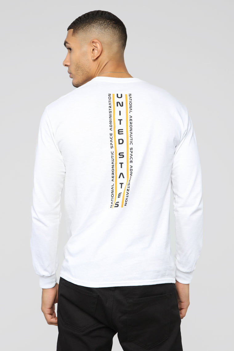 NASA Long Sleeve Tee - White/Yellow