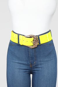 A Subtle Touch Belt - Neon Green Angle 1