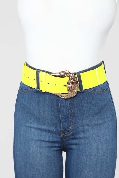 A Subtle Touch Belt - Neon Green
