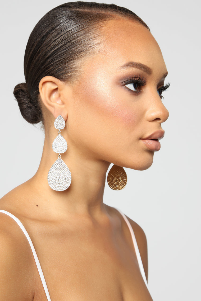 Shed No Tears Earrings - Gold