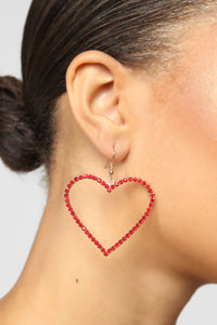 Love To Love You Earrings - Red