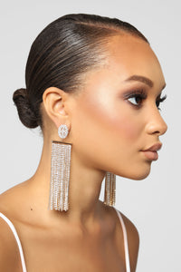 Keepin It Icy Earrings - Gold
