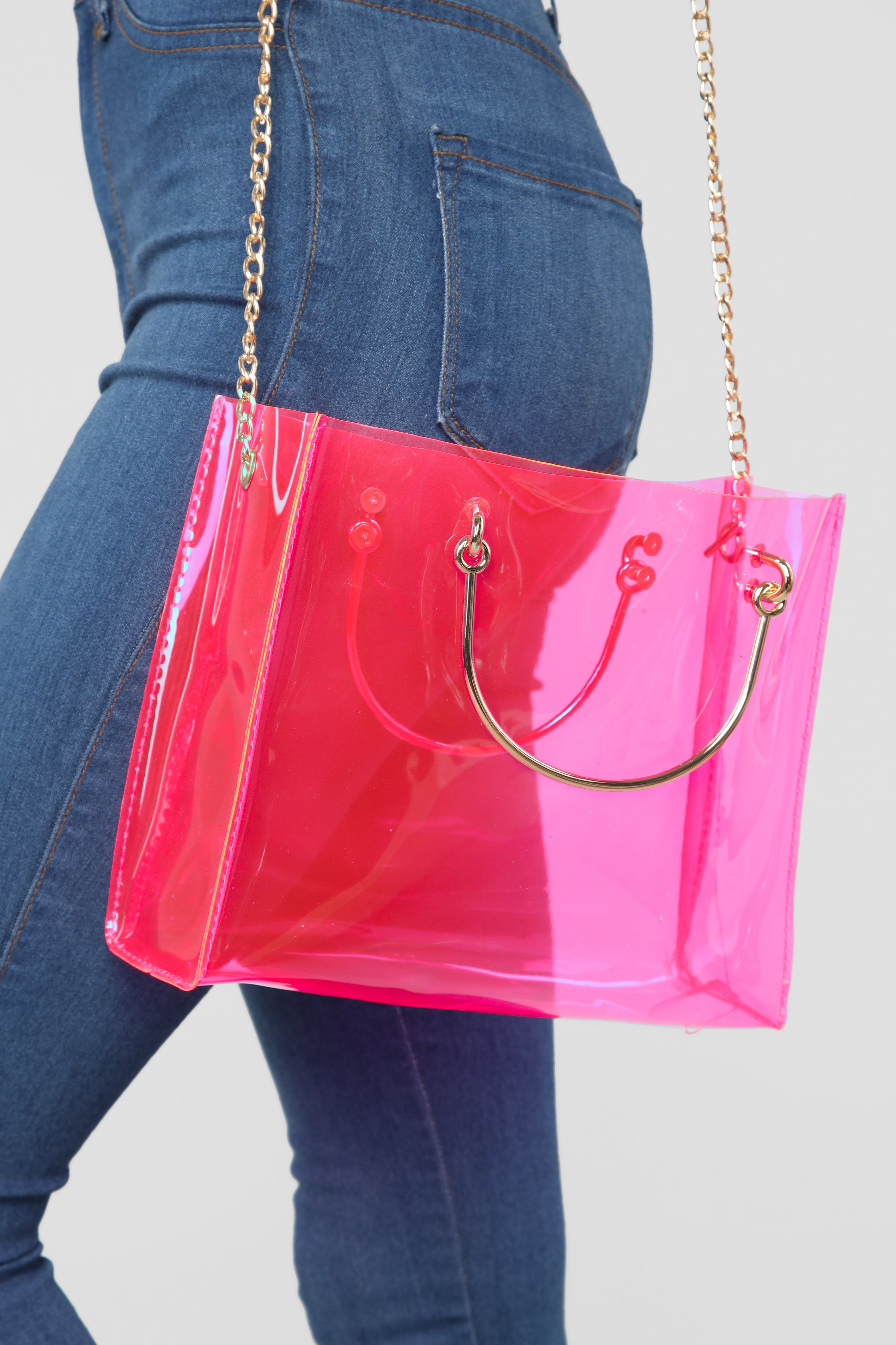 ebd962e5991f In Clear Sight Tote Bag - Pink