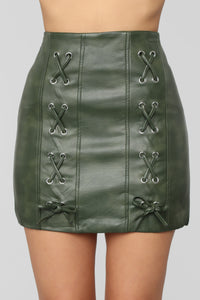 Can't Touch This Mini Skirt - Olive