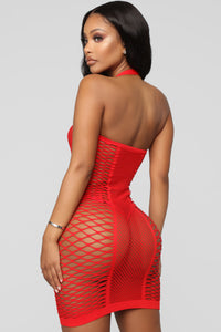 Keeping Me Satisfied Chemise - Red Angle 3
