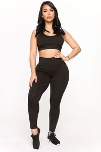 Straighten Things Out Active Legging - Black Angle 3