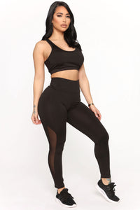 Straighten Things Out Active Legging - Black Angle 1