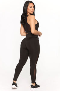 Straighten Things Out Active Legging - Black Angle 6