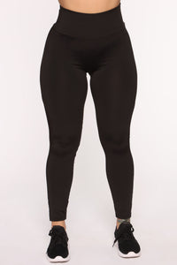 Straighten Things Out Active Legging - Black Angle 2