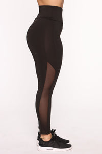 Straighten Things Out Active Legging - Black Angle 4