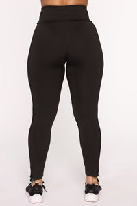 Straighten Things Out Active Legging - Black Angle 5