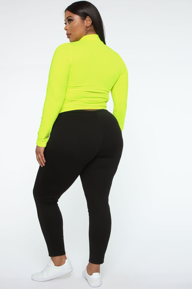 Athletic Bae Top - Neon Yellow