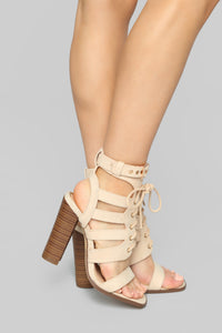 No Restrictions Heeled Sandals - Nude