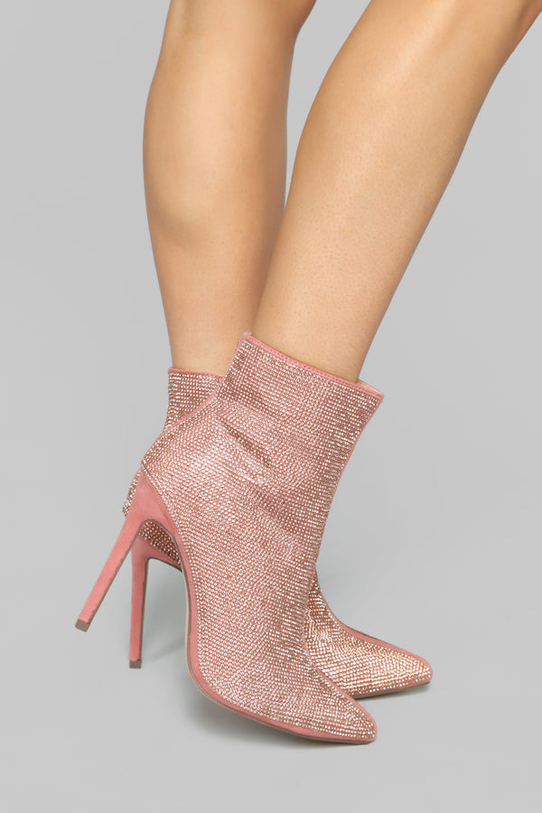 4cb40c87b Follow The Leader Booties - Rose Gold