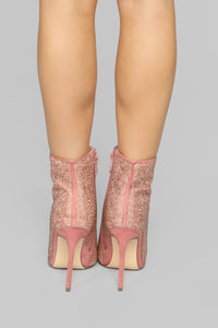 Follow The Leader Booties - Rose Gold