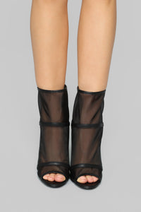 Transparent By Choice Bootie - Black