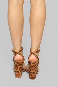 Love You Differently Heeled Sandals - Leopard