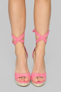 Done With You Heeled Sandals - Pink