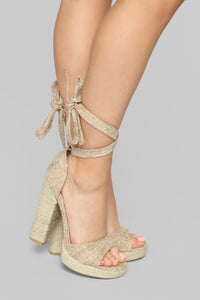 Done With You Heeled Sandals - Taupe