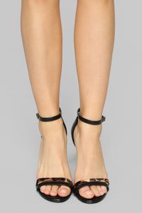 Turn It Up Heeled Sandals - Black
