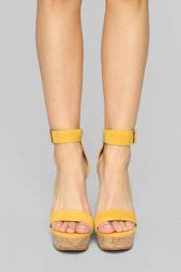 Just A Distraction Wedges - Yellow